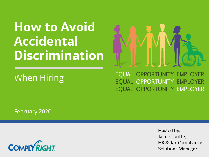 How to Avoid Accidential Discrimination